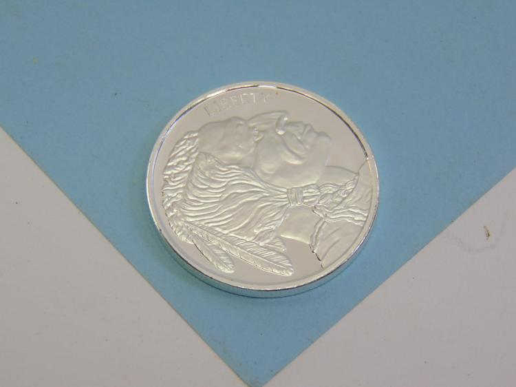 One Troy Oz 999 Fine Silver Buffalo Coin Ingot