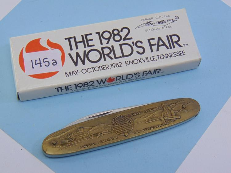 NOS 1982 Worlds Fair Pocket Knife