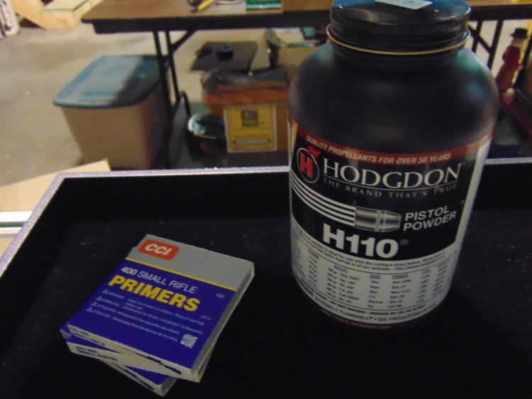 CCI Rifle Primers & Hodgdon Pistol Powder Lot