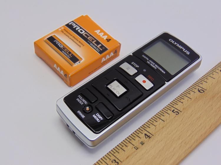 Olympus VN-7600PC Digital Voice Recorder & Extra Batteries
