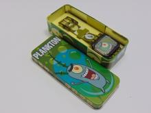 Lot 50: SpongeBob Plankton Viacom Digital Flip Watch in Tin