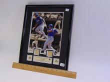 """Lot 59: Upper Deck Framed """"Rod-Squad"""" Alex & Ivan Rodriguez Game Used Baseball Bat Chips"""