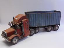 Lot 60: Large Tractor Trailer Metal Truck Sculpture Décor Piece