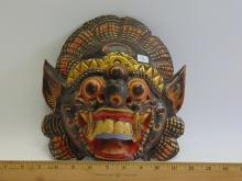Lot 76: Carved Wood and Hand Painted Balinese Barong Mask