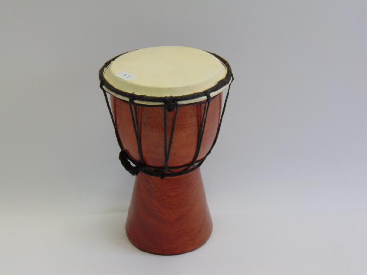 Carved Wood African Djembe Drum