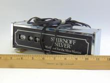 Lot 82: Vintage Smirnoff Silver Lighted Advertising Clock