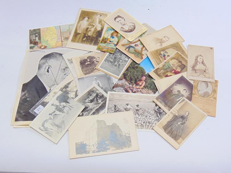 Lot of Antique Advertising Photographs and Cabinet Cards