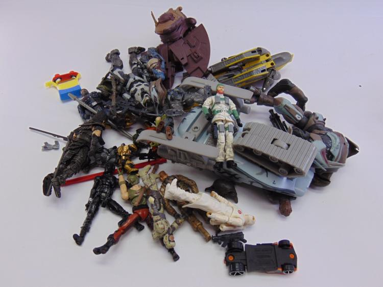 Lot of Star Wars Transformers, Hot Wheels, Halo, and GI Joe Toys