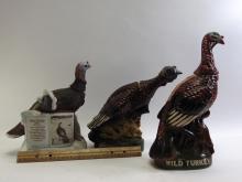 Lot 109: Lot of 3 Austin Nichols Wild Turkey Whiskey Decanters