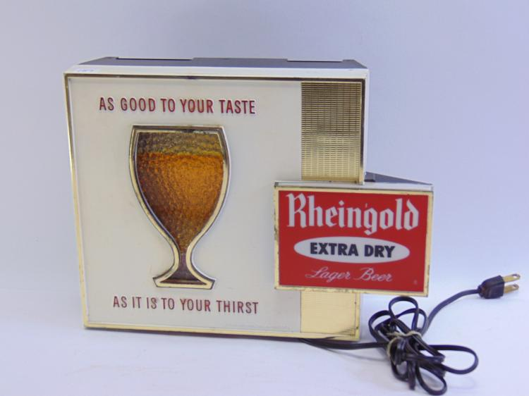 Vintage Einsohn Freeman Co Rheingold Extra Dry Lager Beer Advertising Motion Light