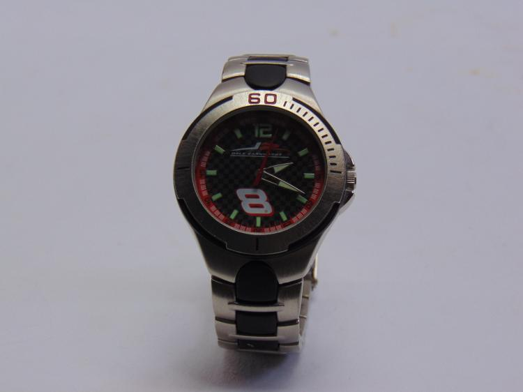 Dale Earnhardt Jr No 8 Nascar Racing Stainless Steel 100 ft. Water Resistant Watch
