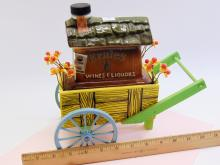 Lot 3: Vintage Jim Beam Ernie's Wines and Liquors Flower Cart Decanter