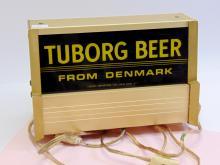 Lot 5: Vintage Signcor Tuborg Beer From Denmark Lighted Advertising Sign