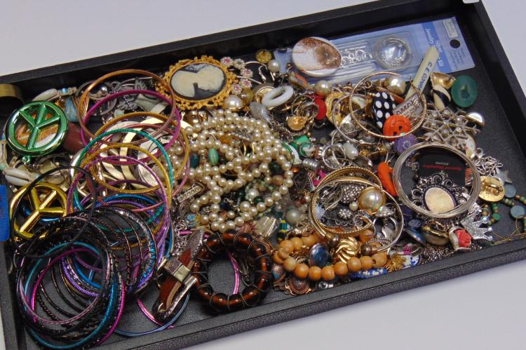Large Lot of Vintage Costume Jewelry For Use or Upcycle