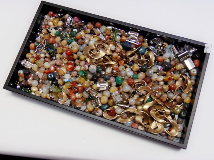 Large Lot of Jewelry Making Upcycle Polished Stone Beads