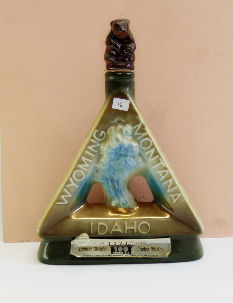 Vintage Sealed Jim Beam Yellowstone National Park Centennial Decanter