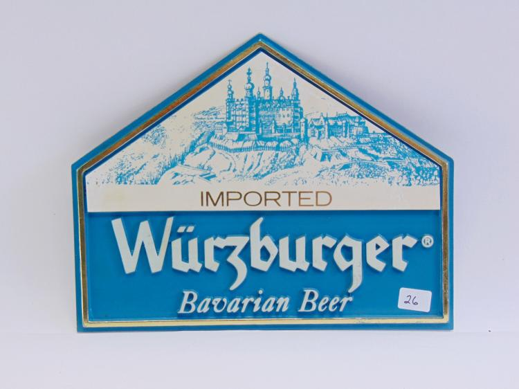 Vintage Future craft Wurzburger Imported Bavarian Beer Advertising Sign