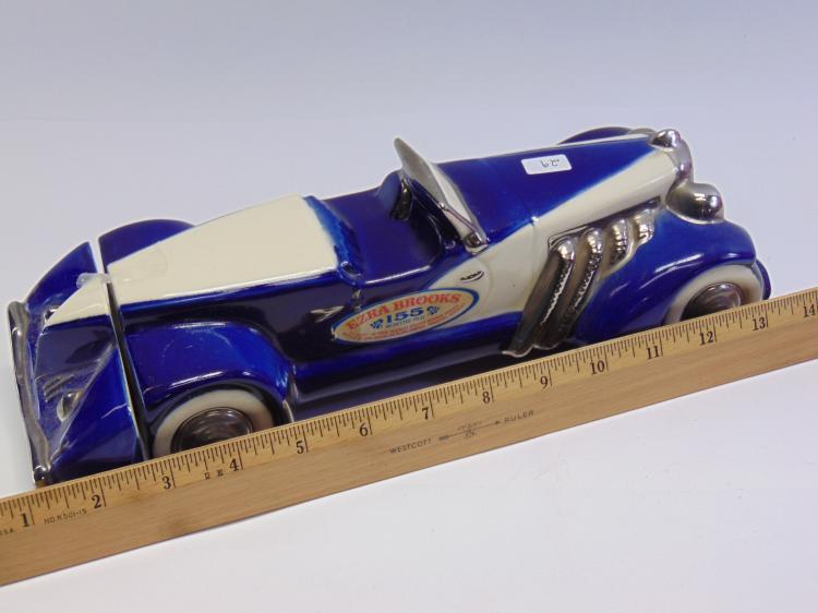Lot 29: Vintage Ezra Brooks Auburn Boat Tail Speedster Decanter