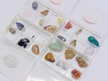 Lot 35: Lot of 24 Semi Precious Stones Minerals and Fossils in 4 GeoCentral Collection Cases