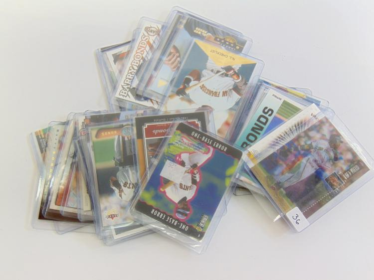 Lot of 30 Collectible MLB Barry Bonds Cards