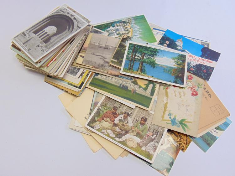 Lot 39: Large Lot of Antique Victorian and Travel Post Cards