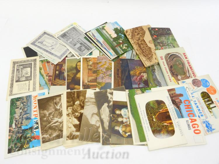 Lot of Vintage US and Foreign Travel Postcards