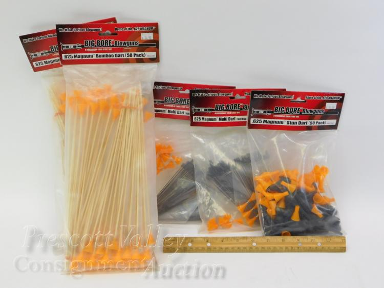 Lot 6: Lot of 5 Unused Packs of Avenger Big Bore .625 Magnum Bamboo Multi and Stun Darts