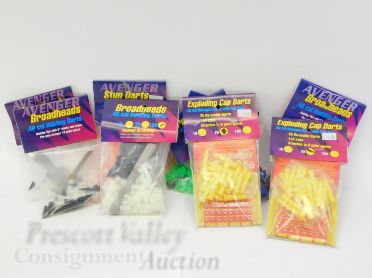 Lot of 9 Unused Packs Avenger .40 Cal Hunting Blunt and Exploding Cap Blow Darts