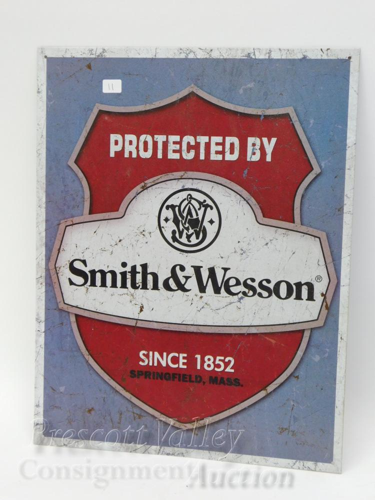 Protected By Smith & Wesson Since 1852 Tin Sign