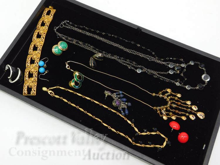 Lot 13: Lot of Costume Jewelry Earrings Necklaces and Bracelet
