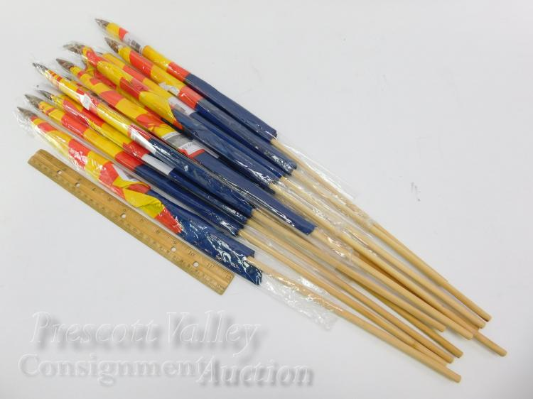 Lot 15: Lot of 11 Unused Arizona State Flags on Sticks