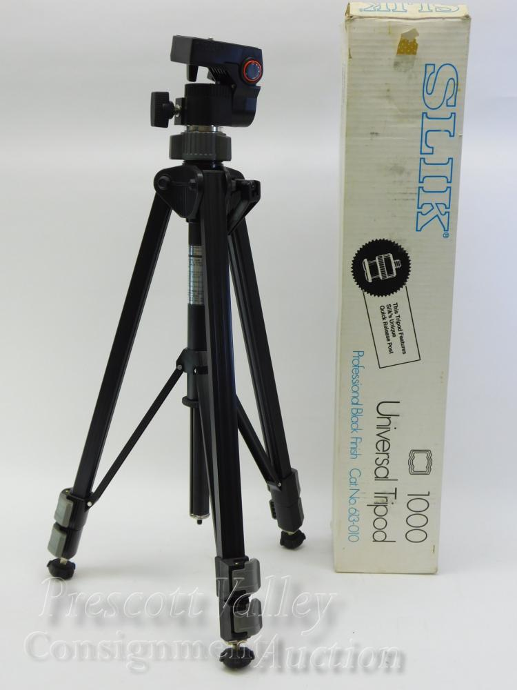 Unused Silk 1000 Professional Black Universal Tripod in Box