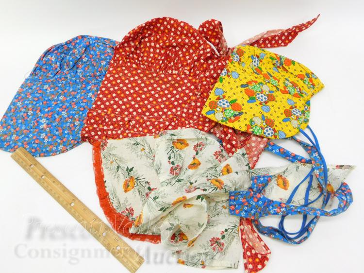 Lot 45: Lot of 4 Vintage Hand Crafted Bonnet Hats