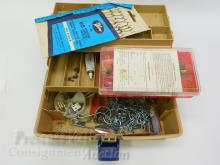 Lot 52: Old Pal Tackle Box Filled with Hooks Lures Sinkers Bobbers and Fishing Accessories