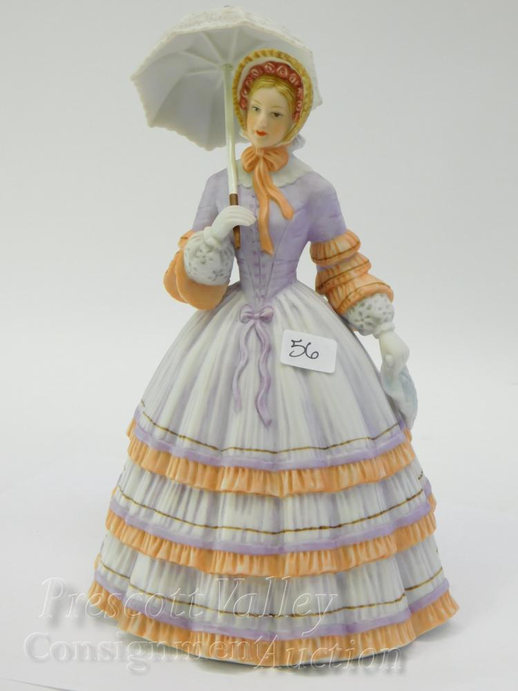 Lenox Springtime Promenade Porcelain Sculpture of a Lady