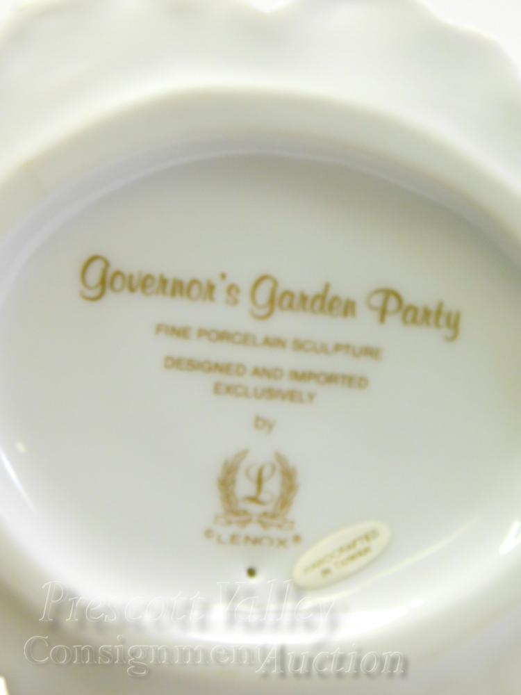Lot 58: Lenox Governor's Garden Party Porcelain Sculpture of a Lady