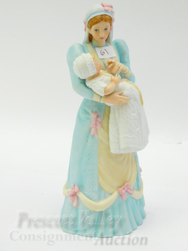 Lenox 1989 The Christening Porcelain Sculpture of a Lady