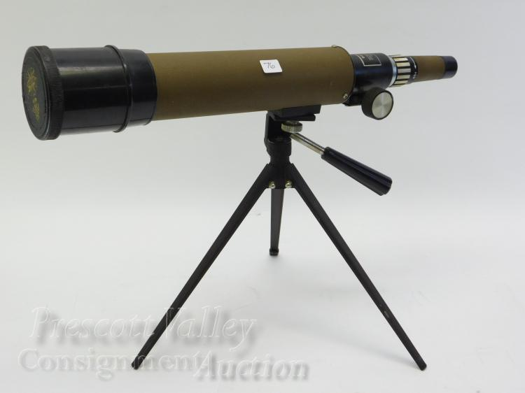 Tasco 20E 15X-45X50mm Zoom Coated Lenses Spotting Scope and Tripod