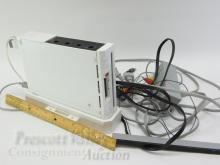 Lot 78: White Wii System with Cooling Fan Cables and Sensor