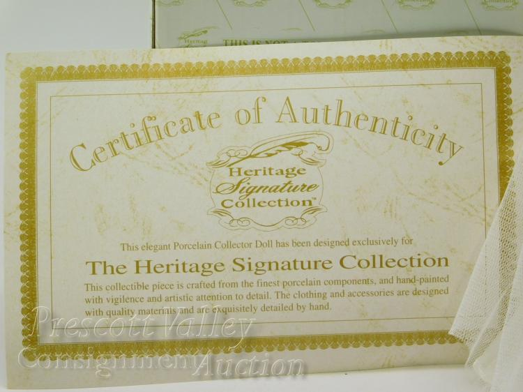 Lot 81: Heritage Signature Collection Porcelain Doll Lamp in the Box