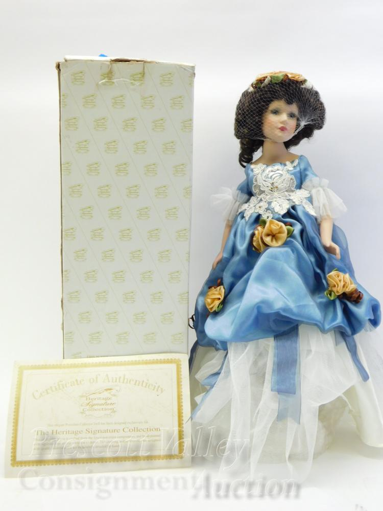 Heritage Signature Collection Porcelain Doll Lamp in the Box