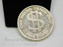 Lot 85: Morgan Dollar Style One Troy Ounce .999 Fine Silver Bullion Round