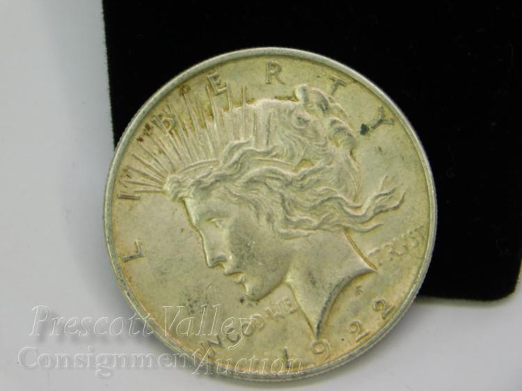 1922 Peace US Silver Dollar Coin