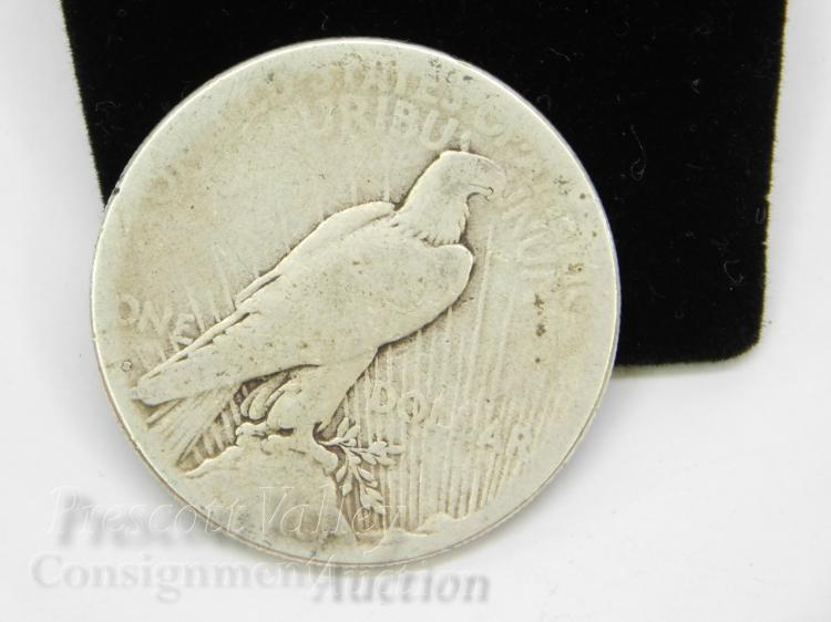Lot 91: 1923 S Peace US Silver Dollar Coin