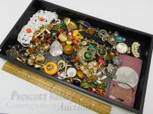 Lot 99: Lot of Assorted Costume Jewelry For Use or Upcycle