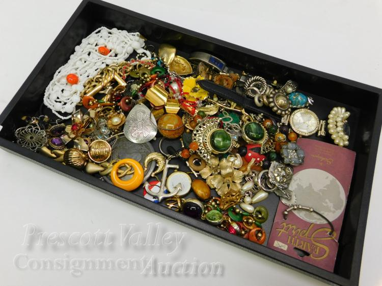 Lot of Assorted Costume Jewelry For Use or Upcycle
