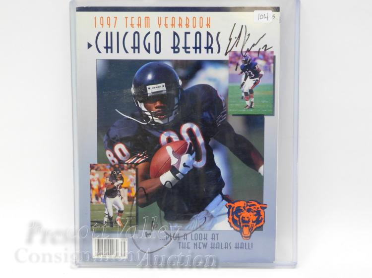 1997 Chicago Bears Football Team Yearbook Signed By Erik Kramer and Curtis Conway
