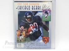 Lot 104: 1997 Chicago Bears Football Team Yearbook Signed By Erik Kramer and Curtis Conway