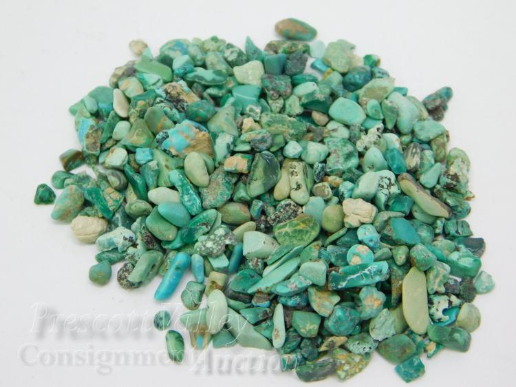 168.4 Carat Lot of Small Rough Turquoise For Jewelry Making