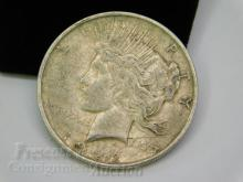 Lot 114: 1922 D Peace US Silver Dollar Coin